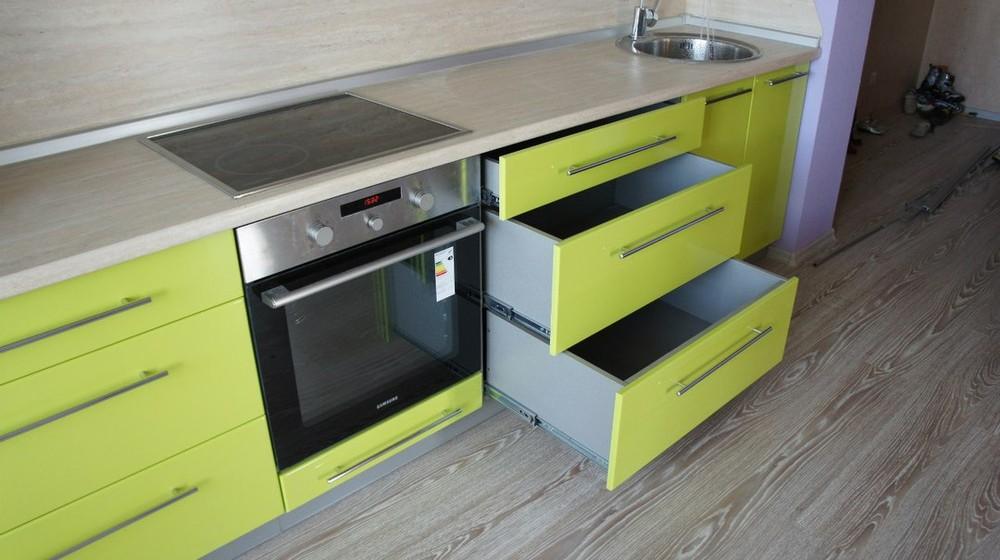 Встроенная кухня-Кухня МДФ в ПВХ «Модель 197»-фото2