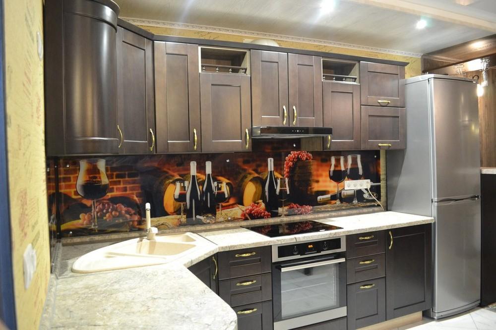 Встроенная кухня-Кухня из массива «Модель 160»-фото1