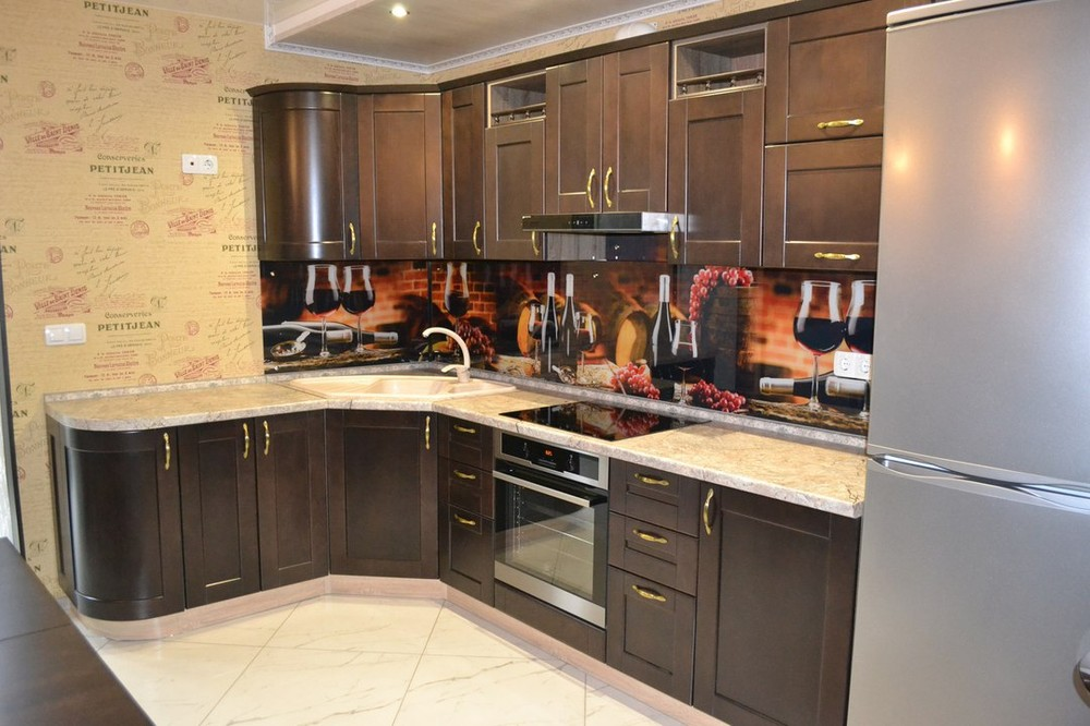 Встроенная кухня-Кухня из массива «Модель 160»-фото2