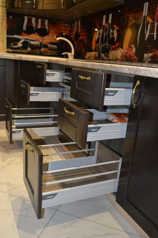 Встроенная кухня-Кухня из массива «Модель 160»-фото3