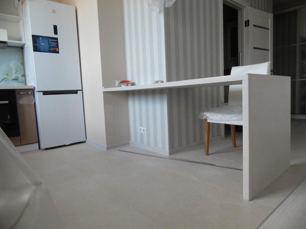 Белый кухонный гарнитур-Кухня МДФ в эмали «Модель 199»-фото3