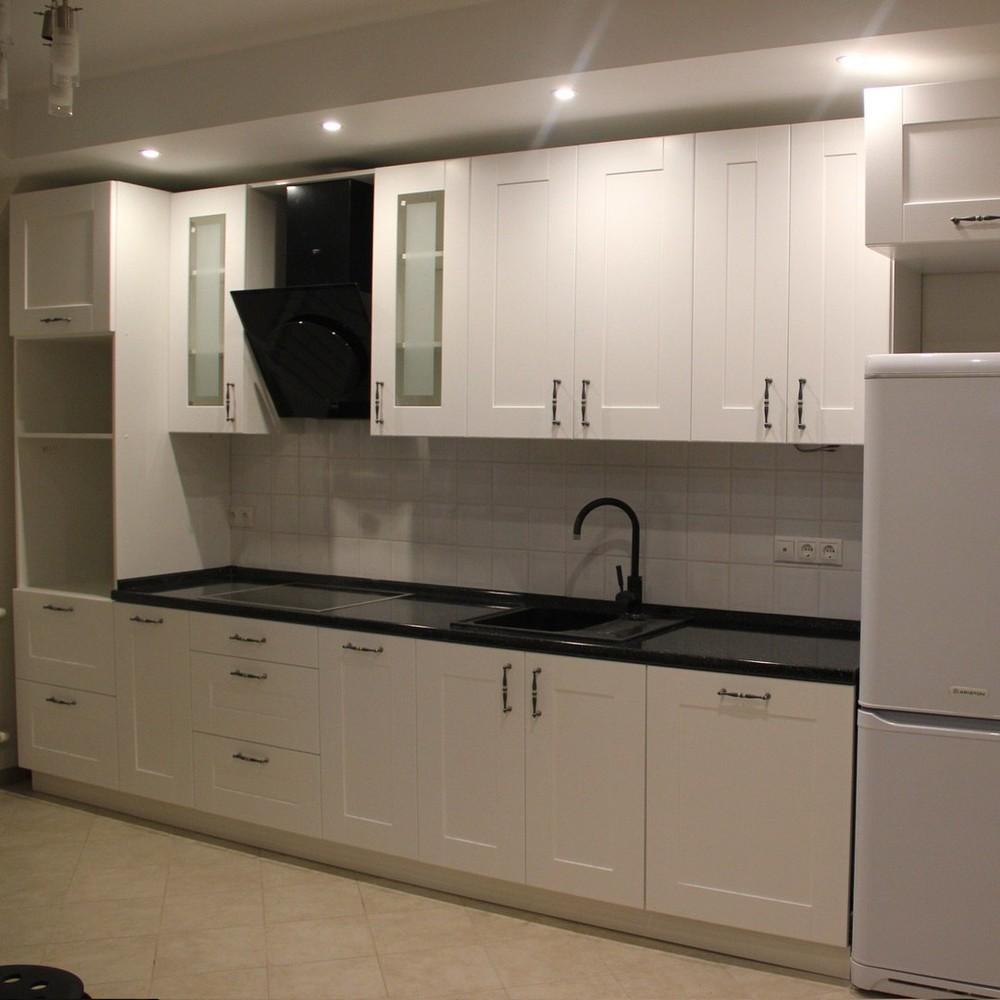 Белый кухонный гарнитур-Кухня из массива «Модель 175»-фото1