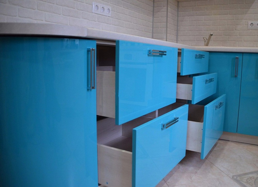 Акриловые кухни-Кухня МДФ в эмали «Модель 167»-фото5