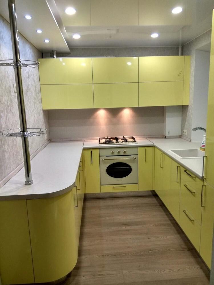 Акриловые кухни-Кухня МДФ в эмали «Модель 163»-фото3