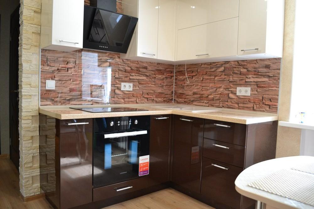 Кухни на заказ-Кухня МДФ в ПВХ «Модель 177»-фото1