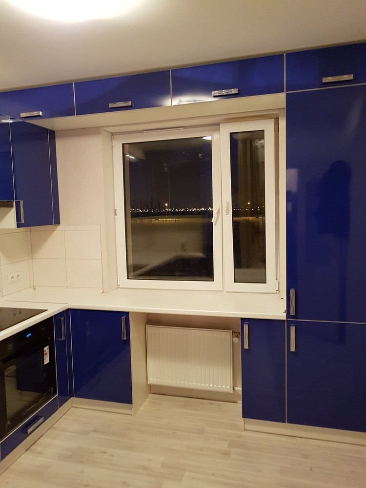 Акриловые кухни-Кухня из пластика «Модель 130»-фото2