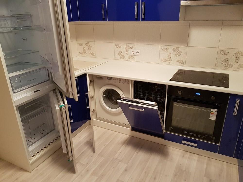 Акриловые кухни-Кухня из пластика «Модель 130»-фото4