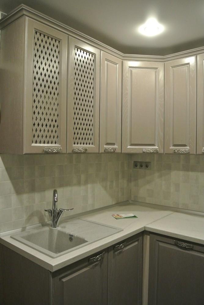 Встроенная кухня-Кухня МДФ в ПВХ «Модель 156»-фото3