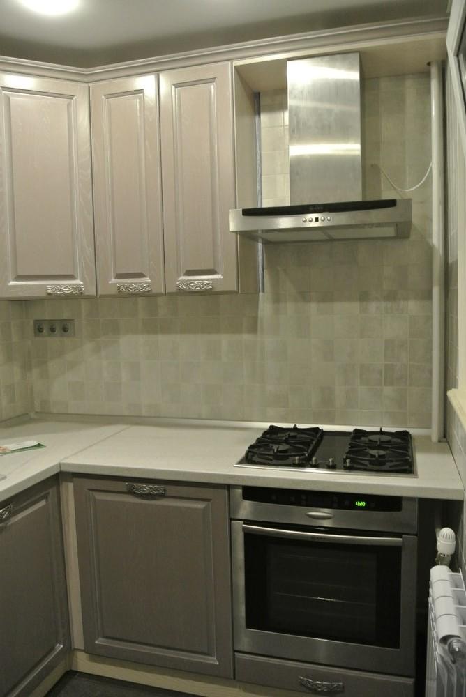 Встроенная кухня-Кухня МДФ в ПВХ «Модель 156»-фото4