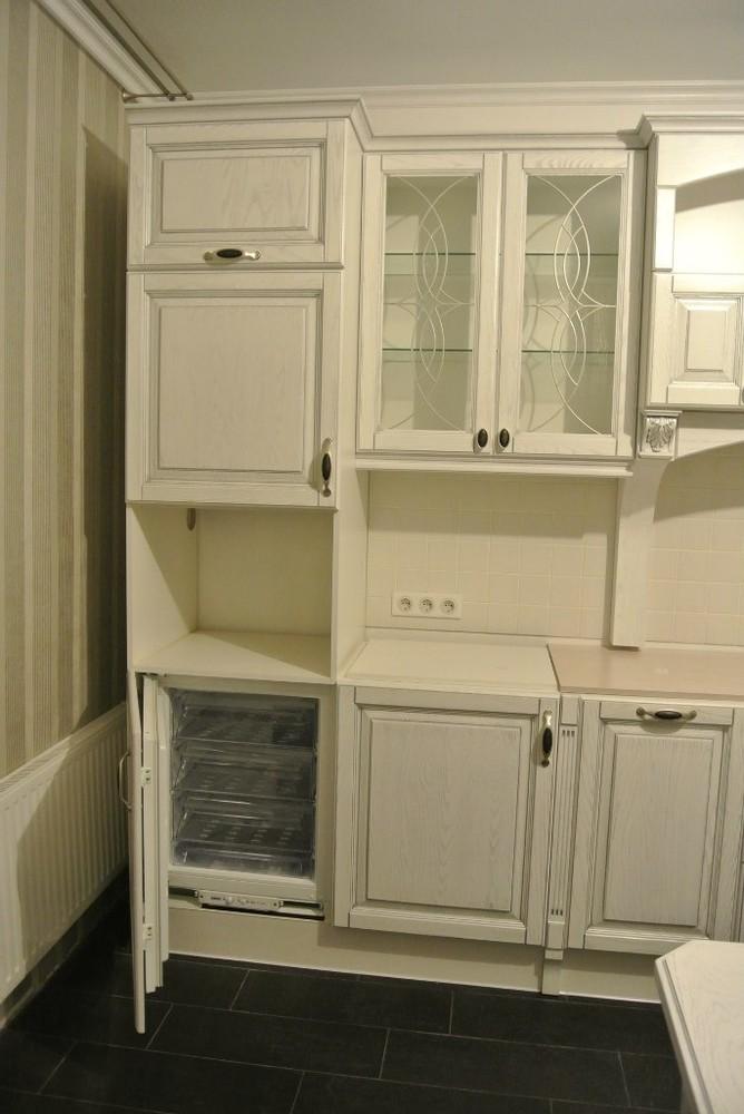 Белый кухонный гарнитур-Кухня МДФ в ПВХ «Модель 187»-фото2