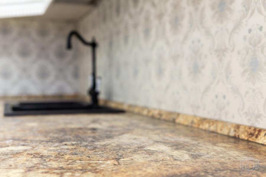 Белый кухонный гарнитур-Кухня из шпона «Модель 8»-фото10