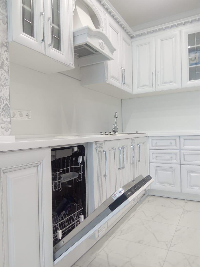 Белый кухонный гарнитур-Кухня МДФ в ПВХ «Модель 34»-фото3