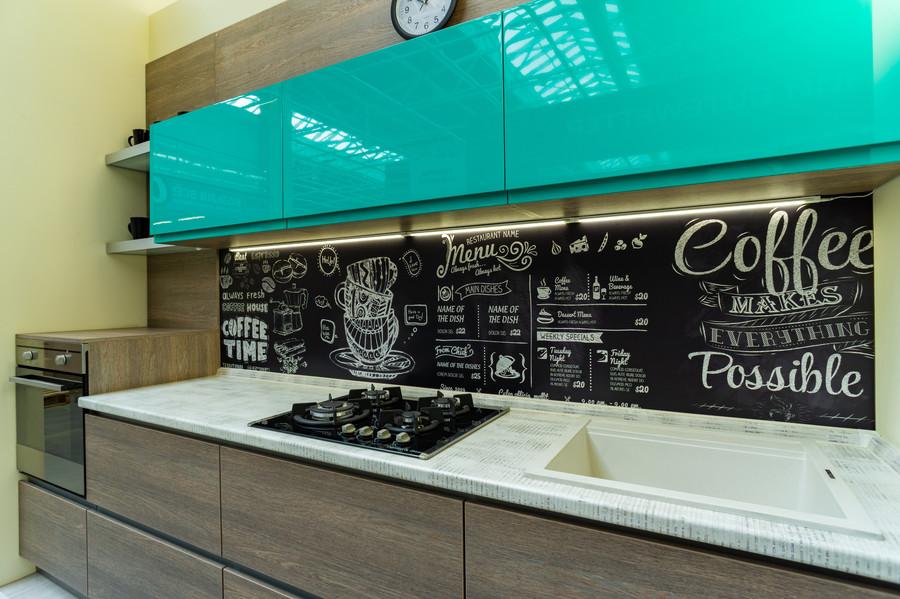 Встроенная кухня-Кухня МДФ в эмали «Модель 49»-фото3
