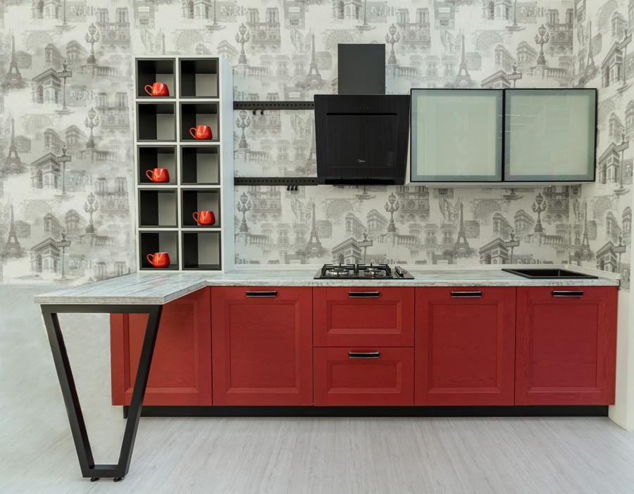 Классические кухни-Кухня МДФ в ПВХ «Модель 51»-фото2