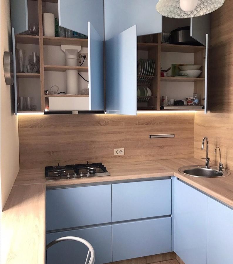Встроенная кухня-Кухня МДФ в ПВХ «Модель 37»-фото1