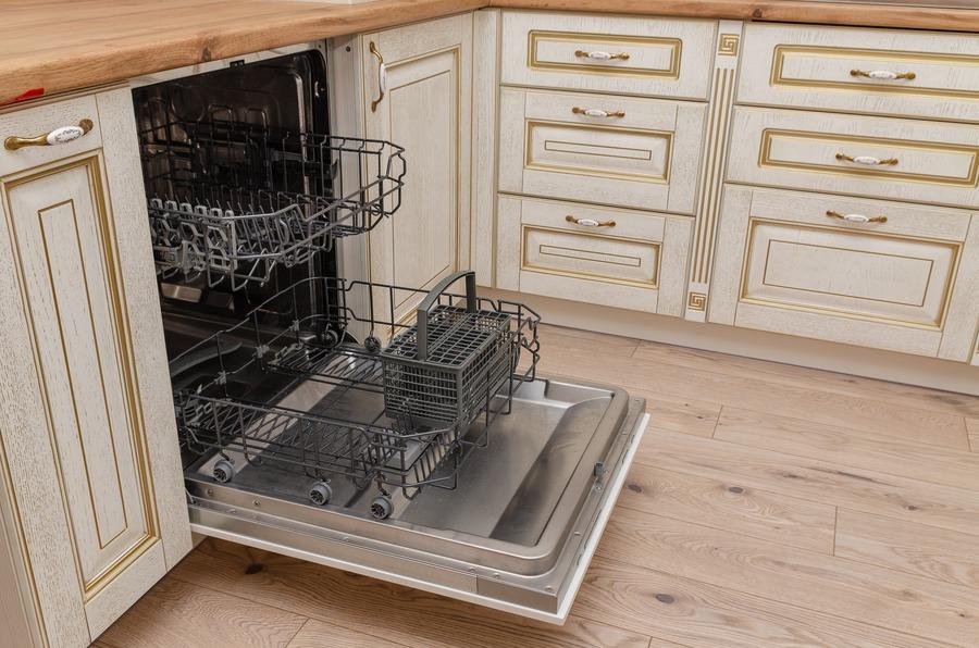 Белый кухонный гарнитур-Кухня из шпона «Модель 4»-фото7