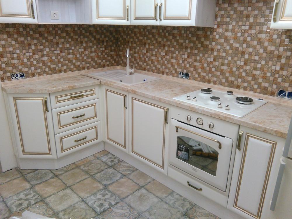 Белый кухонный гарнитур-Кухня МДФ в ПВХ «Модель 340»-фото13