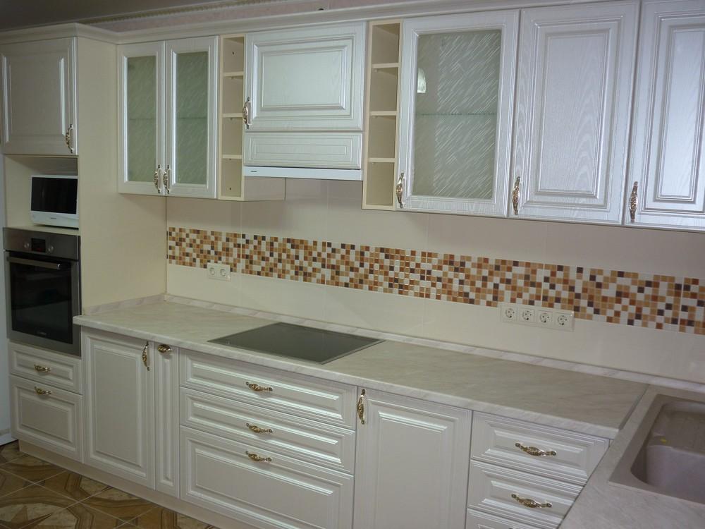 Встроенная кухня-Кухня МДФ в ПВХ «Модель 330»-фото4