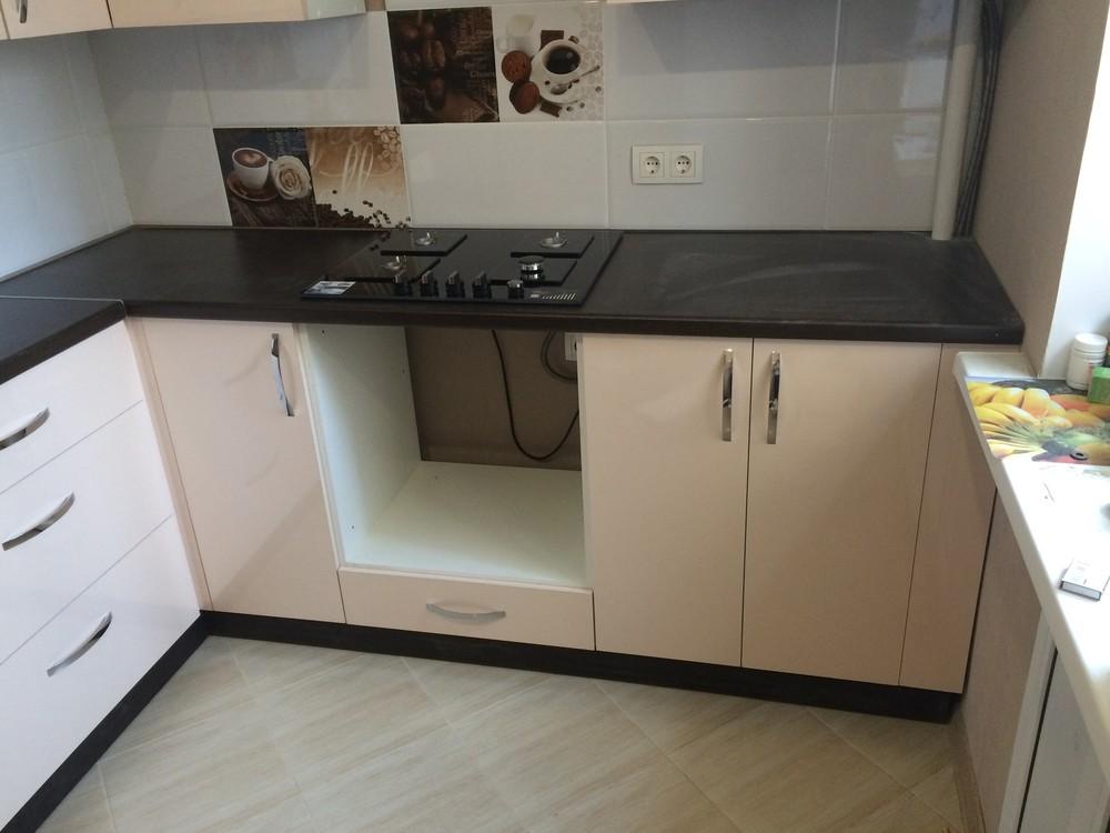Белый кухонный гарнитур-Кухня МДФ в ПВХ «Модель 323»-фото3