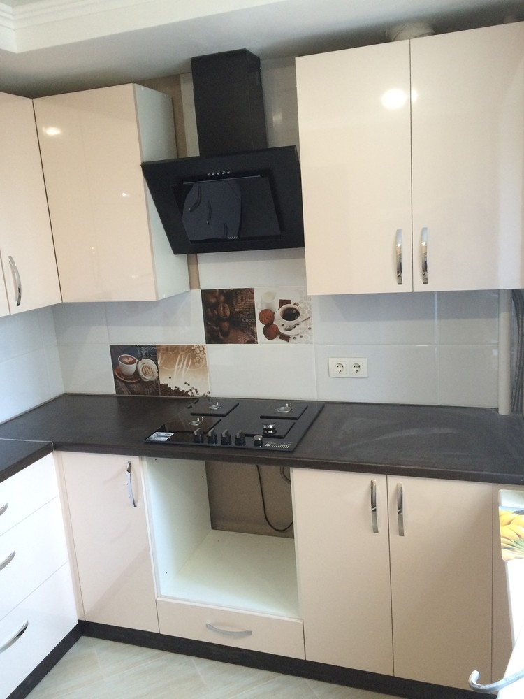 Белый кухонный гарнитур-Кухня МДФ в ПВХ «Модель 323»-фото6