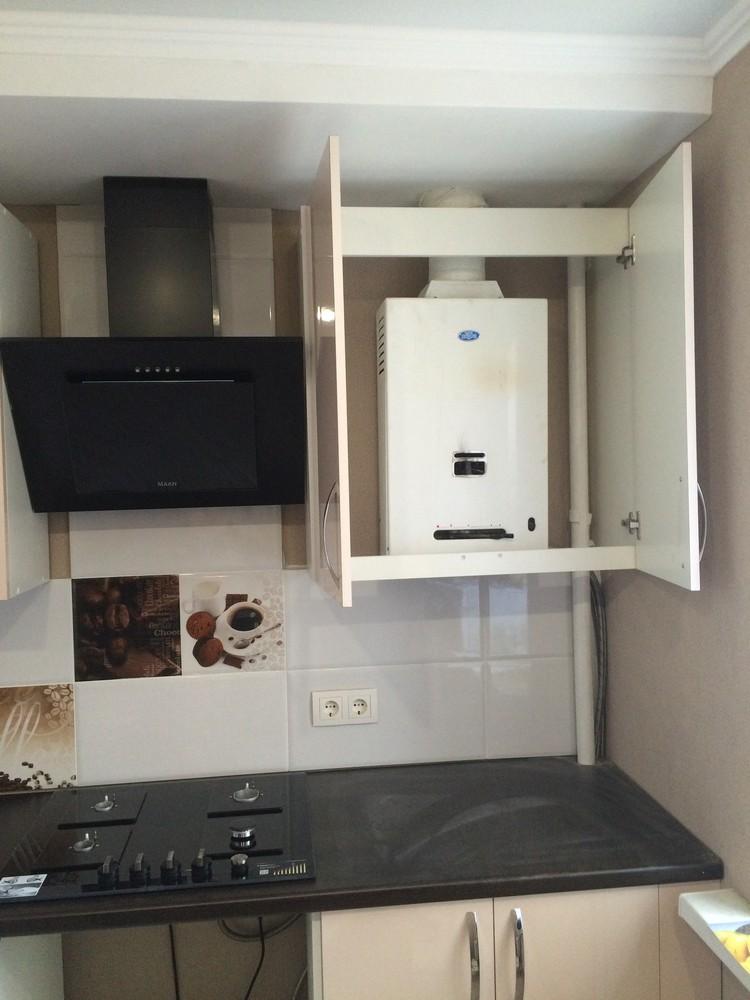 Белый кухонный гарнитур-Кухня МДФ в ПВХ «Модель 323»-фото9