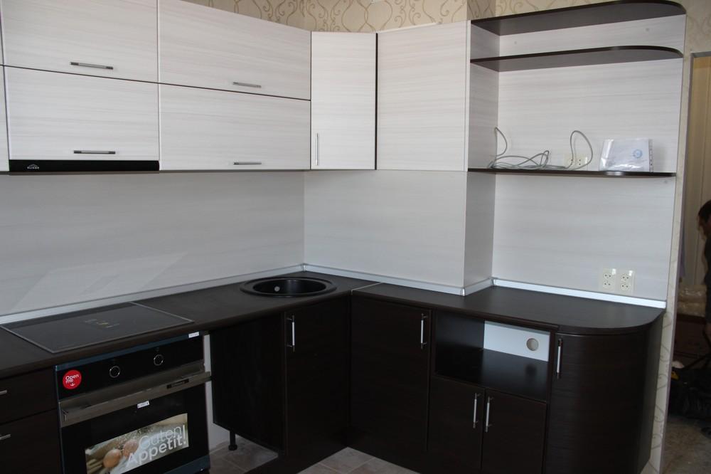 Встроенная кухня-Кухня МДФ в ПВХ «Модель 363»-фото1