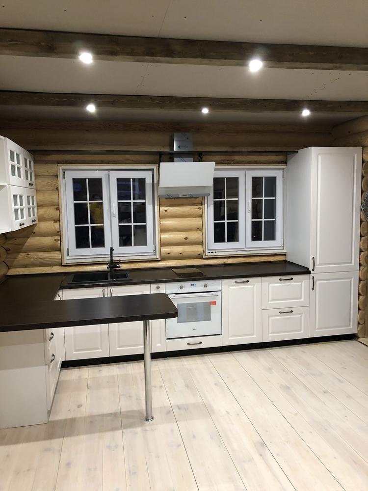 Белый кухонный гарнитур-Кухня МДФ в эмали «Модель 72»-фото2