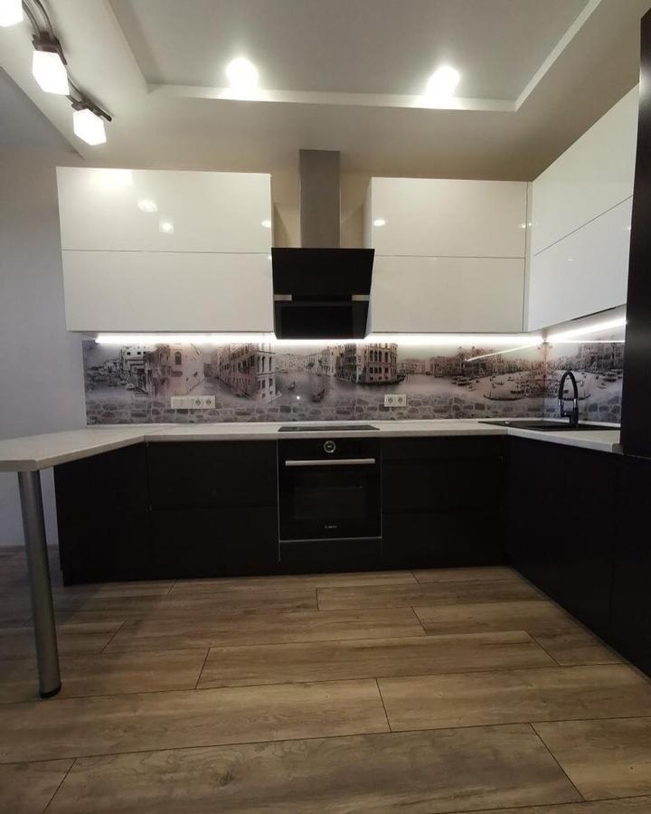 Белый кухонный гарнитур-Кухня МДФ в пленке ПВХ «Модель 93»-фото3
