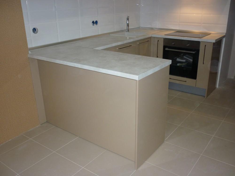 Встроенная кухня-Кухня МДФ в ПВХ «Модель 260»-фото1