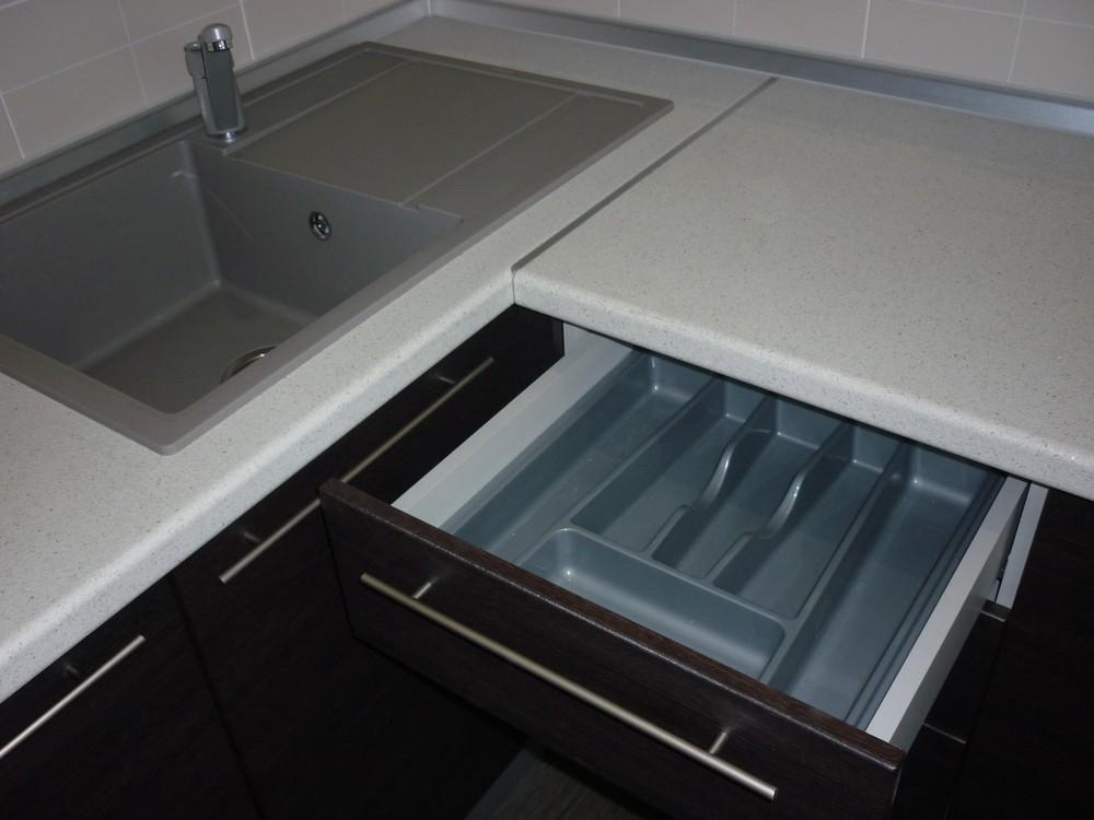 Кухни на заказ-Кухня МДФ в ПВХ «Модель 240»-фото4