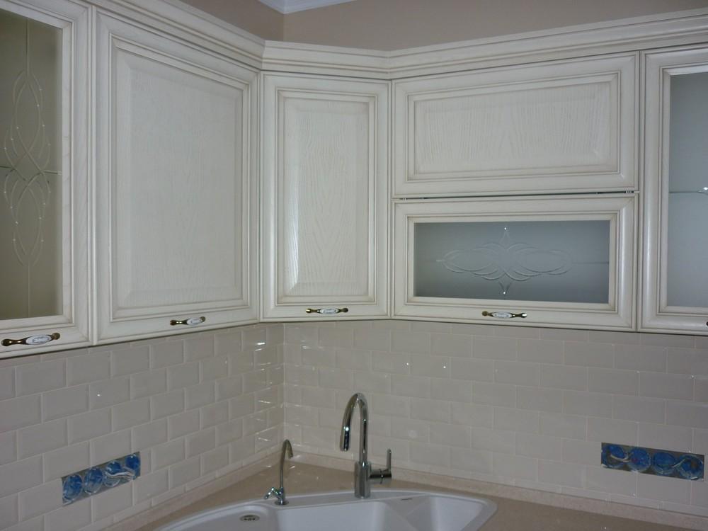 Белый кухонный гарнитур-Кухня МДФ в ПВХ «Модель 223»-фото4