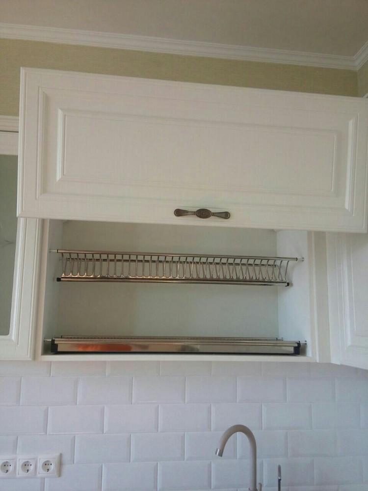 Белый кухонный гарнитур-Кухня МДФ в ПВХ «Модель 226»-фото5