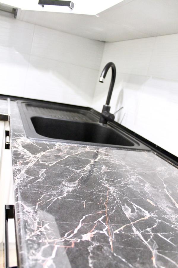 Белый кухонный гарнитур-Кухня МДФ в ПВХ «Модель 300»-фото4