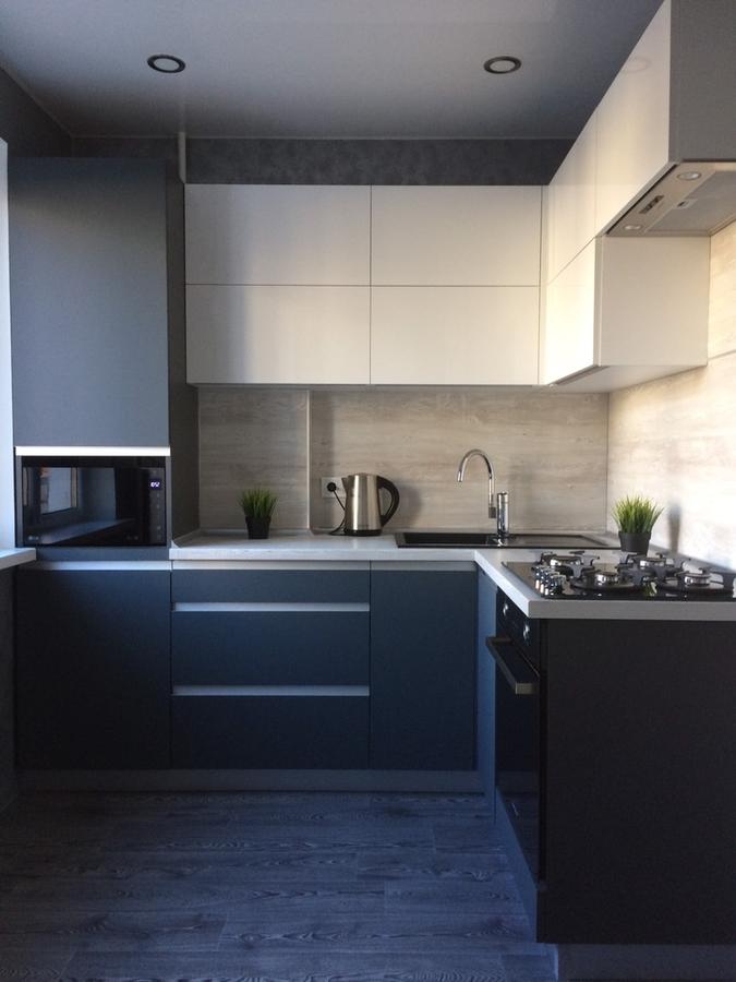 Акриловые кухни-Кухня из пластика «Модель 368»-фото2