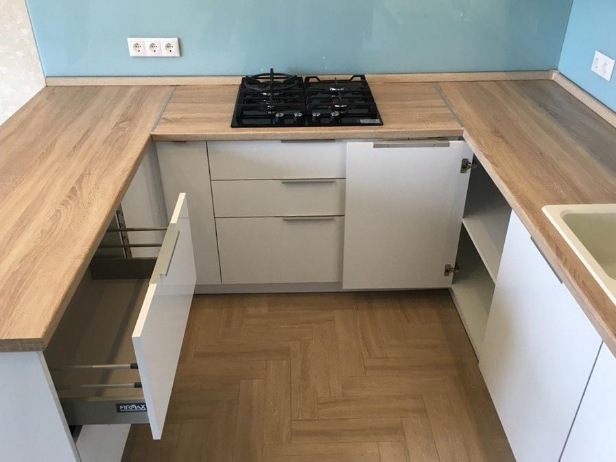Акриловые кухни-Кухня из акрила «Модель 470»-фото5