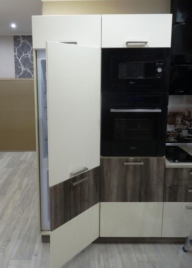 Белый кухонный гарнитур-Кухня МДФ в эмали «Модель 485»-фото6