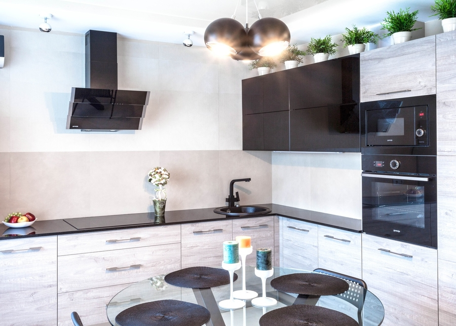 Встроенная кухня-Кухня из ЛДСП «Модель 410»-фото3