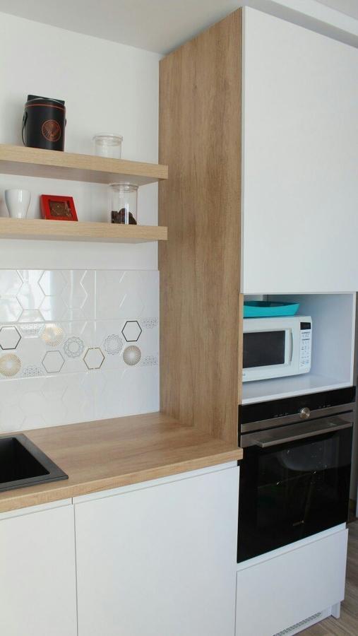 Белый кухонный гарнитур-Кухня из пластика «Модель 87»-фото3