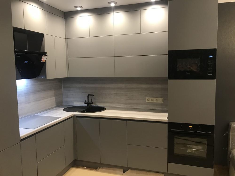 Купить кухню-Кухня МДФ в ПВХ «Модель 549»-фото3