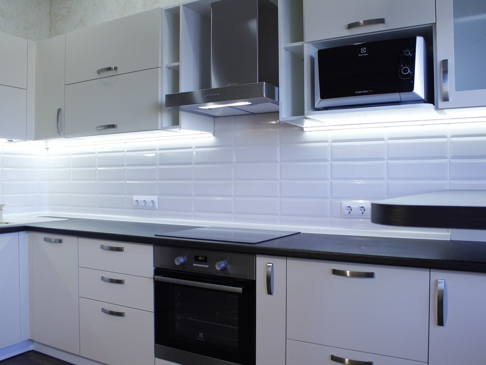Акриловые кухни-Кухня из пластика «Модель 201»-фото1