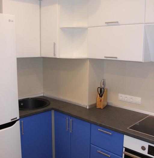 Встроенная кухня-Кухня МДФ в ПВХ «Модель 356»-фото3