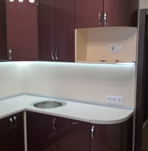 Белый кухонный гарнитур-Кухня МДФ в ПВХ «Модель 366»-фото4