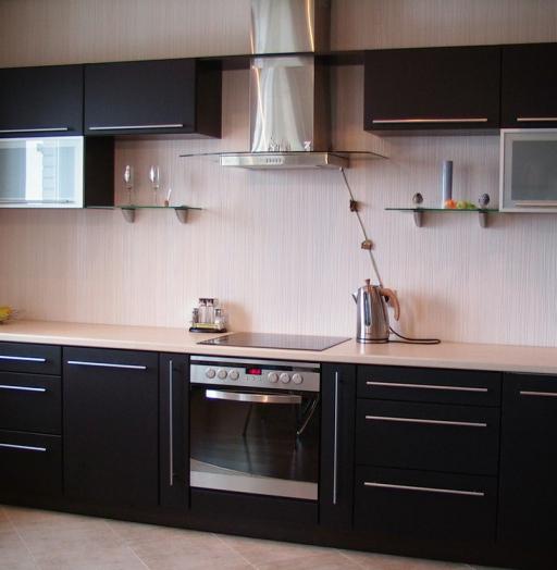 Акриловые кухни-Кухня из пластика «Модель 105»-фото3