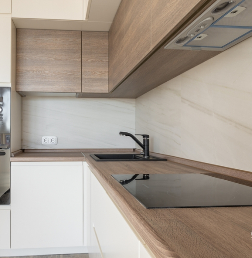 Белый кухонный гарнитур-Кухня из ЛДСП «Модель 424»-фото12