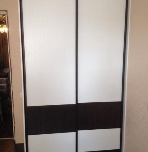 Белые шкафы-купе-Шкаф-купе из ЛДСП «Модель 497»-фото3