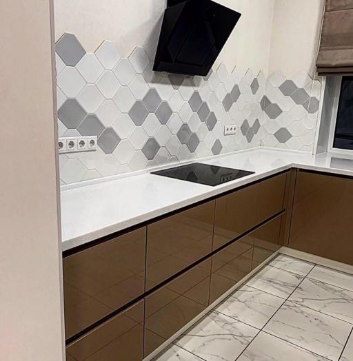 Встроенная кухня-Кухня МДФ в ПВХ «Модель 60»-фото3